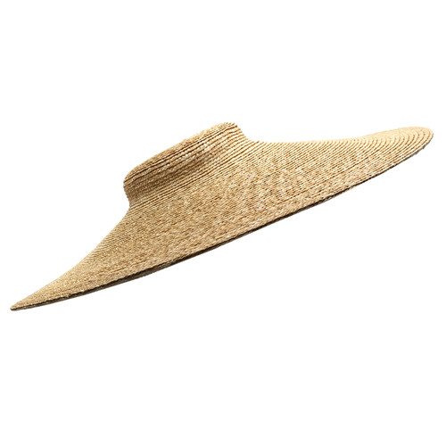 "18th Century Milan Straw Hat Blank - 6"" Brim 
