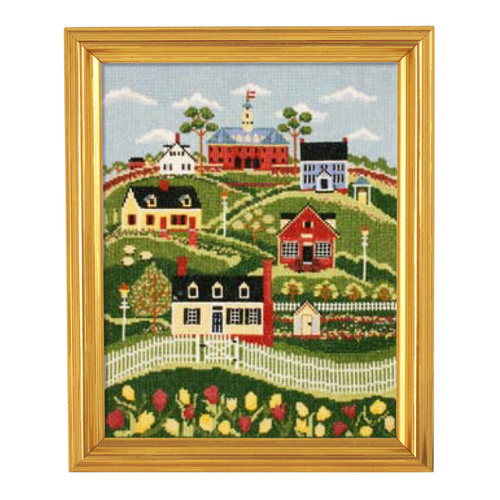 """Karen Cruden """"Spring in Williamsburg"""" Counted Cross Stitch Kit   The Shops at Colonial Williamsburg"""