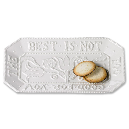 """The Best is Not Too Good for You"" Creamware Tray 