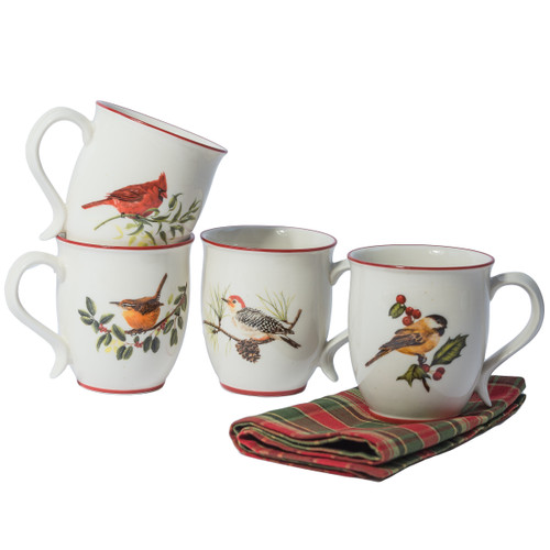 Winter Birds Mugs - Set of 4 | The Shops at Colonial Williamsburg
