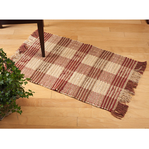 Red Booker Plaid Rug | The Shops at Colonial Williamsburg