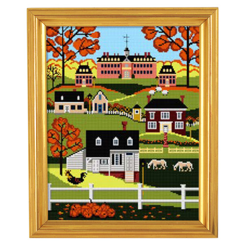 "Karen Cruden ""Fall in Williamsburg"" Counted Cross Stitch Kit 