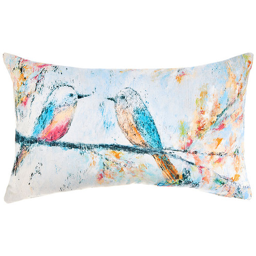 Painted Birds Lumbar Pillow | The Shops at Colonial Williamsburg