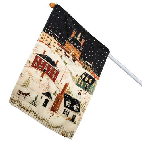 "Karen Cruden ""Winter in Williamsburg"" House Flag 