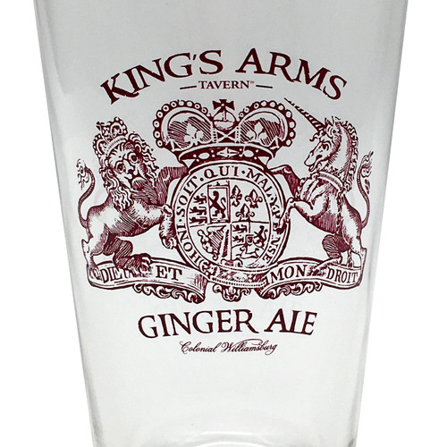 Ginger Ale of King's Arms Tavern Pint Glass | The Shops at Colonial Williamsburg