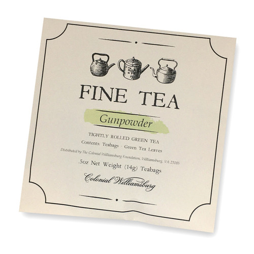 Colonial Williamsburg Gunpowder Tea Sachets | The Shops at Colonial Williamsburg