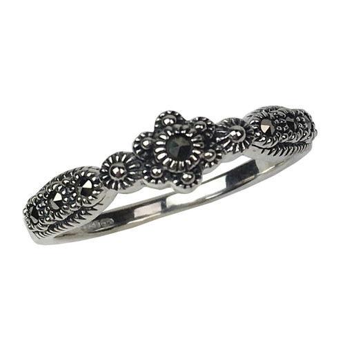 Rococo Marcasite Silver Ring | The Shops at Colonial Williamsburg
