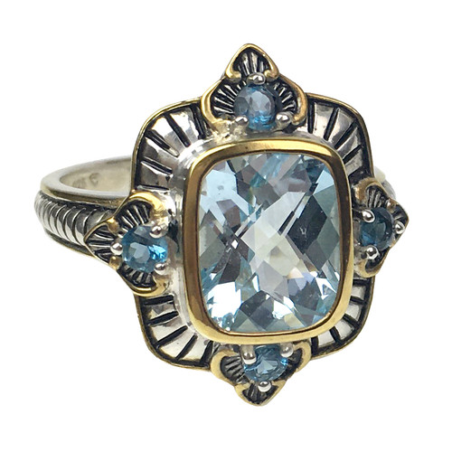 Sky & London Blue Topaz Silver Ring |  The Shops at Colonial Williamsburg
