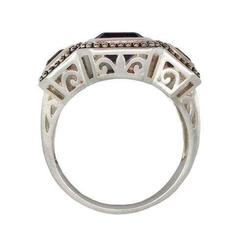 Triple Garnet Silver Ring | The Shops at Colonial Williamsburg