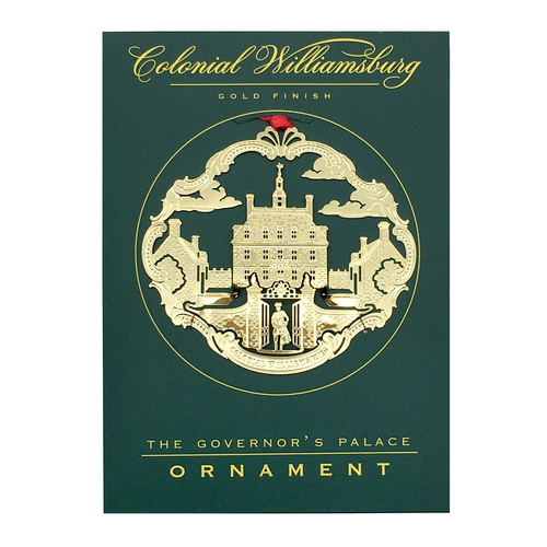 Governor's Palace Etched Gold Ornament | The Shops at Colonial Williamsburg