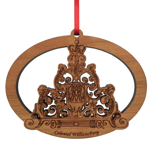 Colonial Williamsburg Governor's Palace Gate Flourish Wood Ornament | The Shops at Colonial Williamsburg