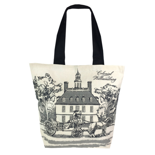 Colonial Williamsburg Governor's Palace Canvas Tote Bag   The Shops at Colonial Williamsburg