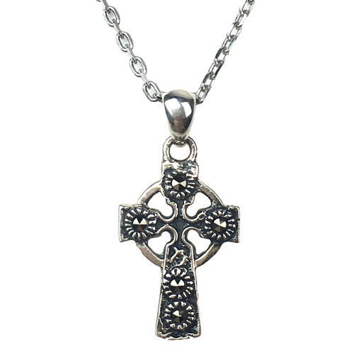 Silver & Marcasite Cross Pendant | The Shops at Colonial Williamsburg