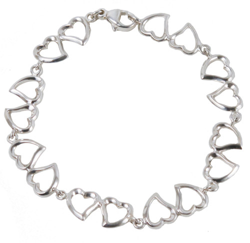 Double Heart Sterling Silver Bracelet | The Shops at Colonial Williamsburg
