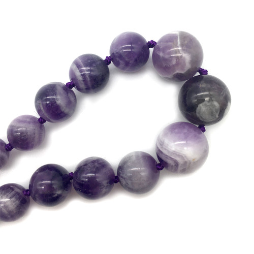 Purple Agate Rosary Necklace | The Shops at Colonial Williamsburg