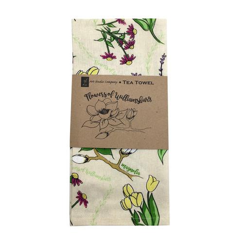 """Flowers of Williamsburg"" Tea Towel | The Shops at Colonial Williamsburg"