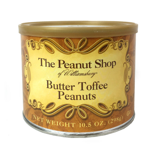 The Peanut Shop Butter Toffee Peanuts 10.5 Oz | The Shops at Colonial Williamsburg