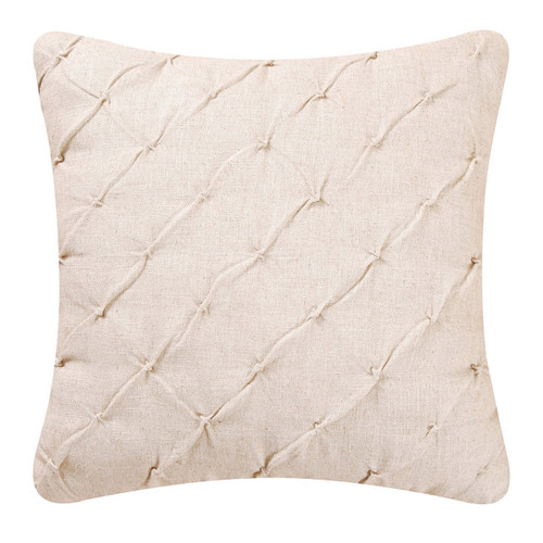 Diamond Tuck Cream Accent Pillow   The Shops at Colonial Williamsburg
