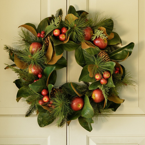 Magnolia, Pinecone, & Apple Wreath | The Shops at Colonial Williamsburg