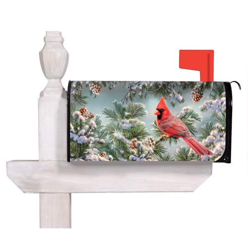 Snowy Cardinal Mailbox Wrap | The Shops at Colonial Williamsburg