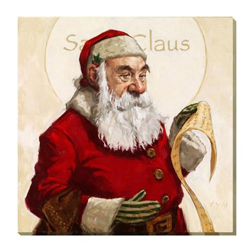 """Santa Claus"" Canvas Giclee Print by Darren Gygi | The Shops at Colonial Williamsburg"