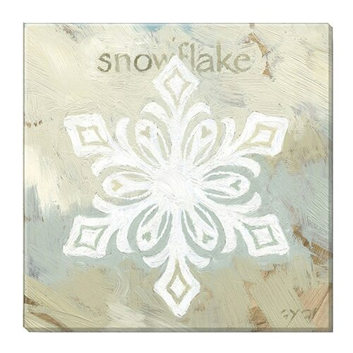 """Snowflake Fleur"" Canvas Giclee Print by Darren Gygi 