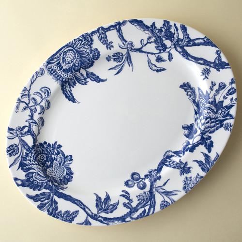 "Caskata Arcadia Blue 16"" Rimmed Oval Platter   The Shops at Colonial Williamsburg"