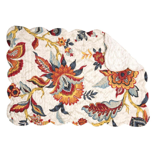 Kennedy Rectangular Placemat - reversible quilted placemat   The Shops at Colonial Williamsburg