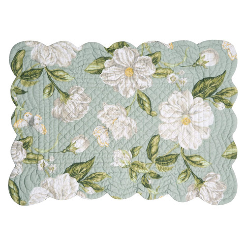 Magnolia Garden Rectangular Placemat - top side | The Shops at Colonial Williamsburg