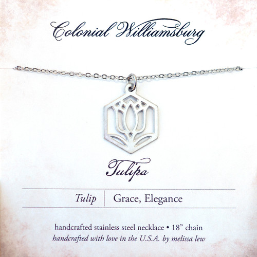 Melissa Lew Tulip Stainless Steel Necklace | The Shops at Colonial Williamsburg