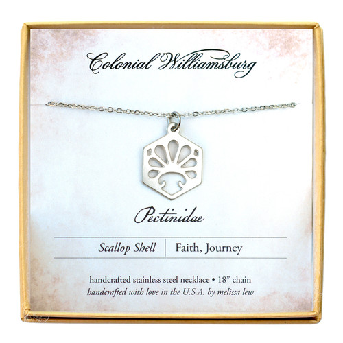 Melissa Lew Scalloped Shell Stainless Steel Necklace | The Shops at Colonial Williamsburg