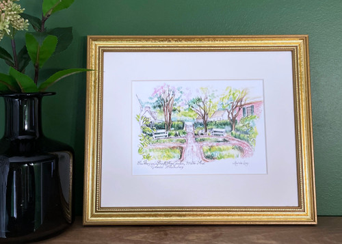 Benjamin Powell Farm Garden Framed Print by Marcia Long   The Shops at Colonial Williamsburg