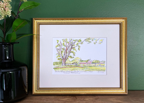 Custis Square Archaeological Dig Frame Print by Marcia Long | The Shops at Colonial Williamsburg