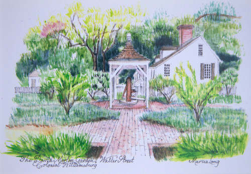 David Morton Garden Framed Print by Marcia Long | The Shops at Colonial Williamsburg