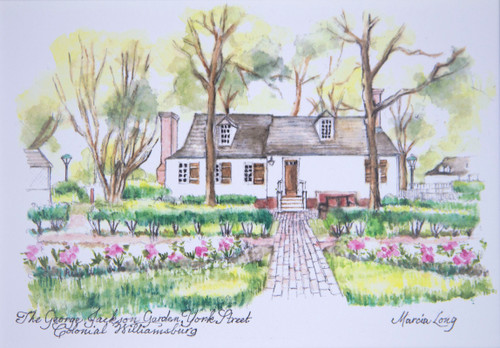 George Jackson Garden Framed Print by Marcia Long | The Shops at Colonial Williamsburg