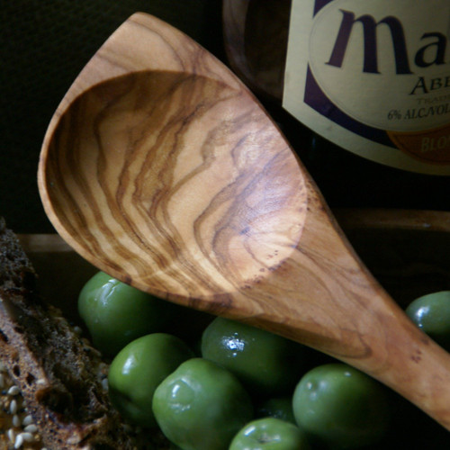 Olive Wood Pointed Baking Spoon | The Shops at Colonial Williamsburg