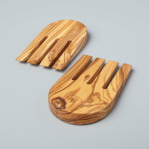 Olive Wood Salad Hands | The Shops at Colonial Williamsburg