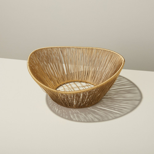 Gold Rhythm Large Wire Basket | The Shops at Colonial Williamsburg