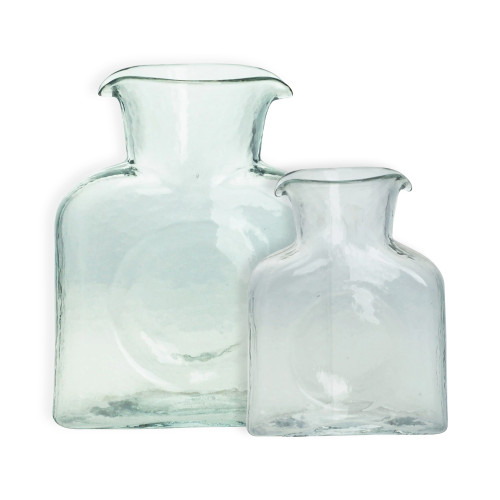 (Right) Blenko Glass Mini 384 Clear Water Bottle | The Shops at Colonial Williamsburg