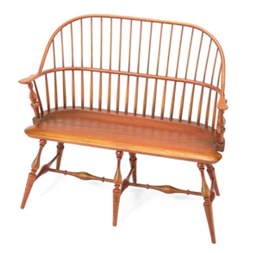 """44"""" Bowback Settee by Benner's Woodworking   The Shops at Colonial Williamsburg"""