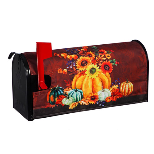Harvest Florals and Pumpkins Mailbox Cover   The Shops at Colonial Williamsburg