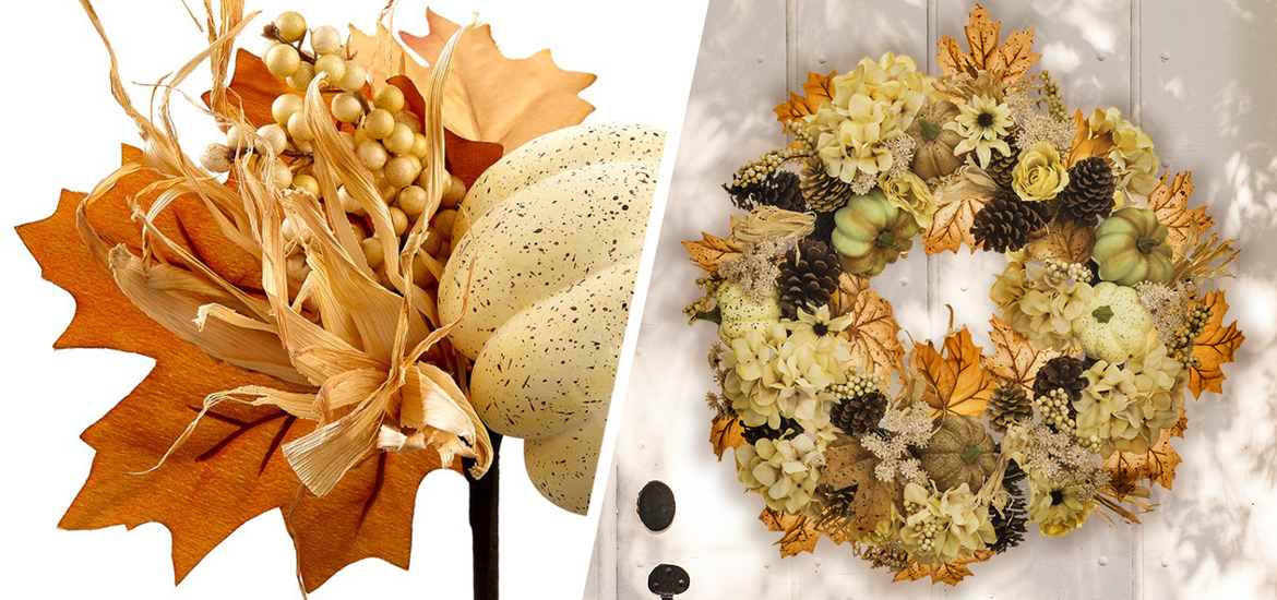 Picture of Fall seasonal florals and wreaths