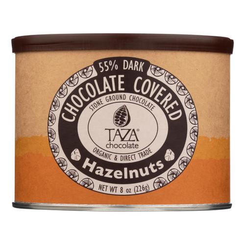 Taza Chocolate - Hazelnuts Chocolate Covered - Case of 6 - 8 OZ
