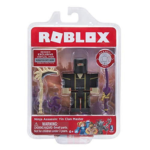 Roblox Ninja Assassin: Yin Clan Master Single Figure Core Pack with Exclusive Virtual Item Code
