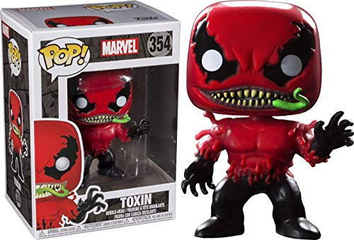 Funko Pop Marvel: Toxin Bobble-head Collectible Figure, Multicolor
