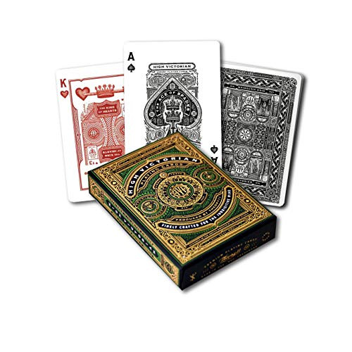 High Victorian Playing Cards Green