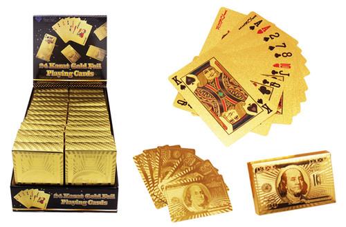 24 Karat Gold Foil Playing Cards