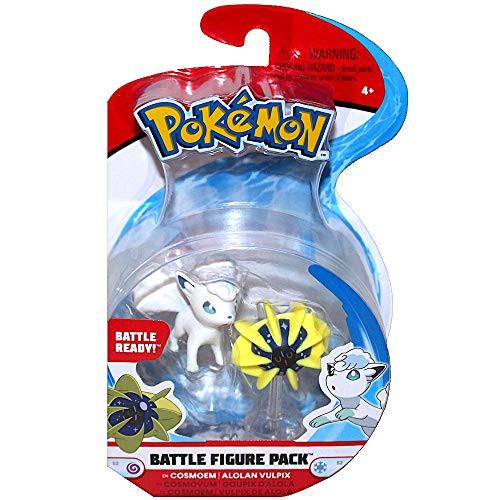 Pokemon Cosmoem vs Alolan Vulpix Battle Figures