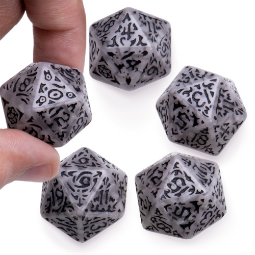 Battlescarred Jumbo d20s, 5-pack