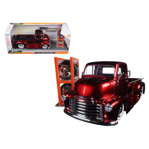1952 Chevrolet COE Pickup Truck Red Just Trucks with Extra Wheels 1/24 Diecast Model by Jada 97225